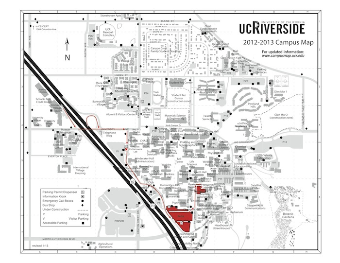 UCR map SICB regional Ucr Campus Map Baseball Field on